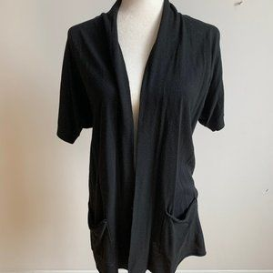 Michael Kors black sweater open cardigan sz Small